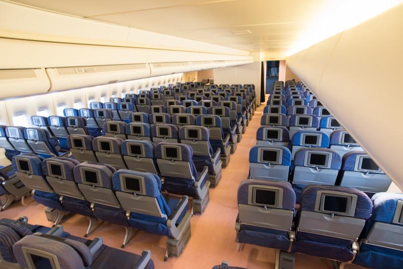 747のエコノミークラスを完全再現!