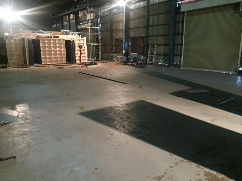 260平米の広々準備スペース